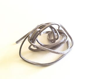 1 meter suede grey