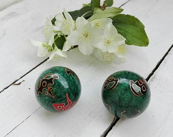 boyfriend gift unique gift collectible balls meditation balls yin yang balls relaxation zen decor chinese balls - Spa Decor