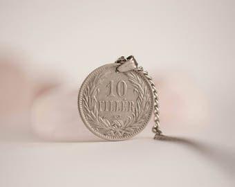 Hungary Coin Necklace. 10 Fillér, 1894.