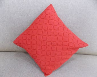 Indian Pure Cotton Cushion Cover Home Cut Work Decorative Red Color Size 17x17""