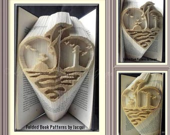 Dolphin - Sunrise - Ocean - Lighthouse - Book Folding Pattern