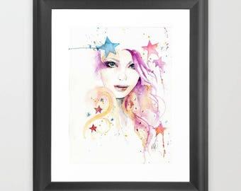 Unframed giclee, print, 8.5X11,  watercolor, wall art, contemporary art, art gifts