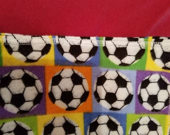 Soccer flannel baby receiving or swaddling blanket