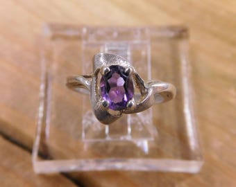Sterling Silver Amethyst Ring Size 5.25