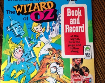 Vintage Wizard of Oz Book and Record