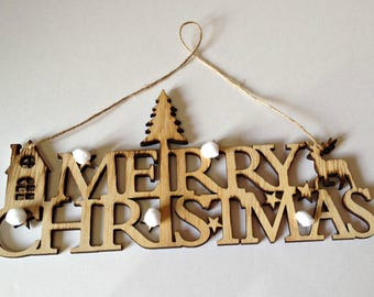 Wooden Christmas Wall Plaque, Wooden Wall Plaque, Merry Christmas Sign, Handmade Wall Decoration, Wooden Wall Decoration, Handmade Gift