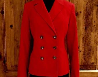 Vintage unworn Anne Klein Red Double Breasted Jacket
