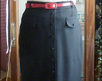 vintage 80s skirt 50s style