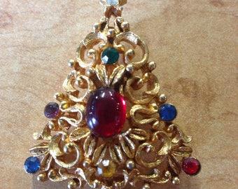 Vintage JJ Christmas Tree Pin