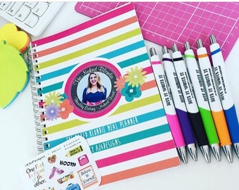 AJ6D400, The Naked Blondie Meal Planner. 12 Week Planner & Pen + star awards sticker sheet. Food, Fitness, Meal Prep, Recipes.