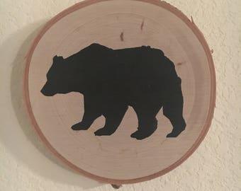 Birch Wood Bear Sign