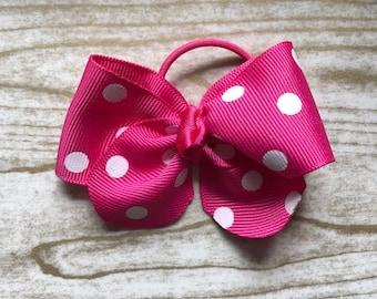 Pink Polkadot Bow