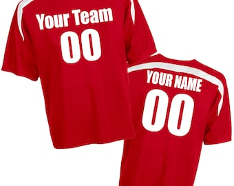 Sweeper Crew Neck CoolMesh Accent Trim Custom Soccer Jersey with your Names and Numbers