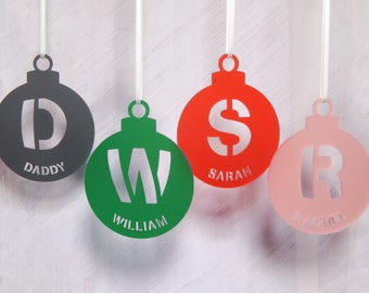 Personalised Initial Bauble Christmas Tree Decoration