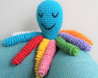 Hand Crocheted Sleeping Octopus