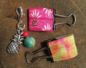 Pineapple Charm & Pen Loop Set