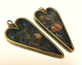 Deep Blue Treasure Earrings