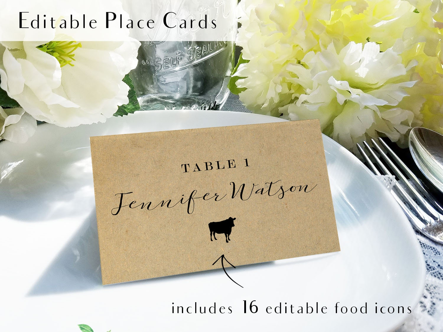 It is a photo of Agile Printable Escort Cards