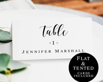 DIY place cards Wedding place cards template rustic Table seating cards template Printable table cards Wedding seating cards template #vm21