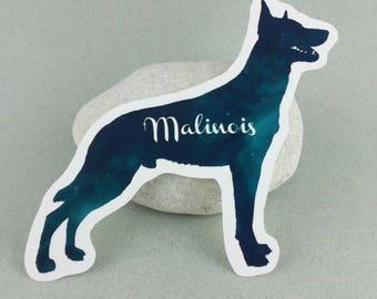 "Personal name sticker ""Malinois"""