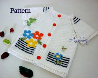 Pattern baby vest Summer flowers.P027