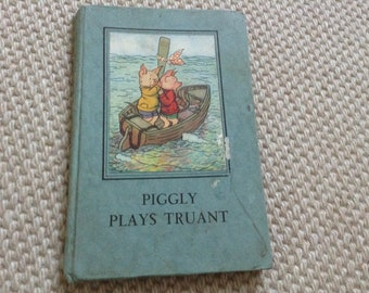 Vintage Ladybird Book Piggly Plays Truant Series 401 5th edition 1951