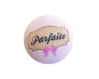 1 fabric button x 28mm perfect BOUT12