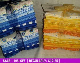 SALE! This & That YELLOW - (8) FQ bundle - Benartex