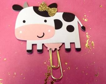 Cutie Cow Planner Clip, Planner Clip, Planner Supplies