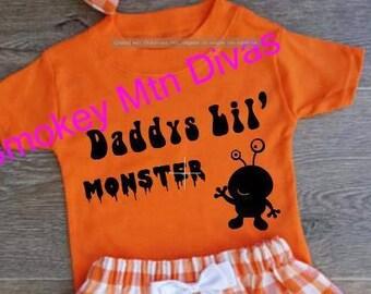 Daddys lil' Monster - Apparel / kids T-Shirt  / kids shirt / monster /  halloween /halloween tshirt / tshirt / boys t shirt / girls t shirt