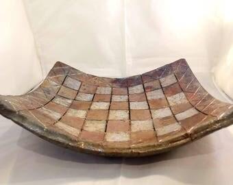Raku pottery platter