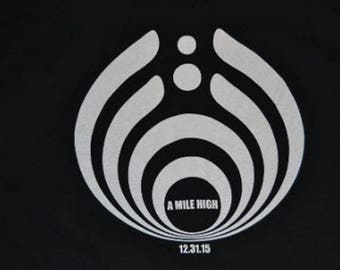 Bassnectar two-sided screen printed T-Shirts - Sizes M - XXL, 100% Cotton, Black T-Shirt with White Ink