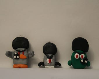 "Ornament= Mutant Fro and ""Infected"" Characters -Polymer Clay-"
