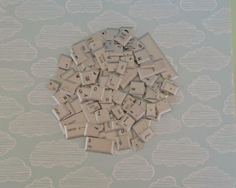 Keyboard keys - craft supplies - silver laptop keys - bulk supplies for scrapbooking, collages, jewellery and diy