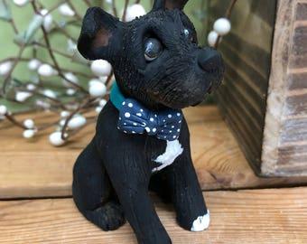 Custom Dog Ornament, Clay9 Mini, Custom Dog Sculpture, Dog Ornament, Terrier Sculpture, Dog Lover Gifts, Stocking Stuffer, Valentines Gift