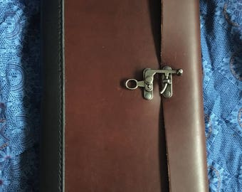 Large leatherbound journal with