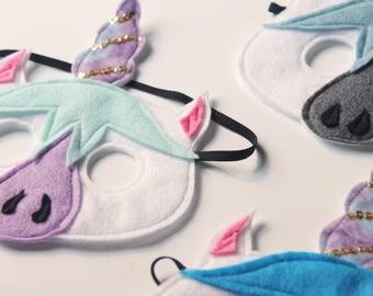 Dreamy Unicorn felt mask