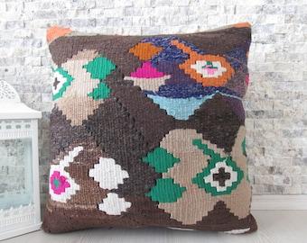 superb vintage cotton handwoven kilim pillow decorative pillow floor cushion 20x20 bohemian decorative pillow throw pillow boho cushion
