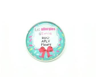 Child brooch special 20mm - handmade by LesBijouxdeKarine allergies