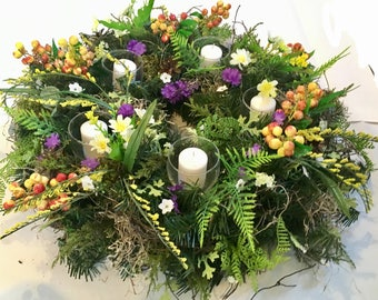Table wreath, all season wreath, spring wreath