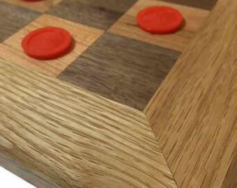 wood chess board - wood checker board - oak wood chess board - dark walnut chess board - cherry wood chess board - chess - gifts for him