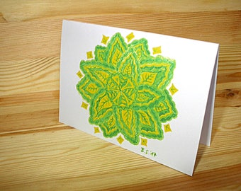 """Greeting card A6 (also available as a set): """"Leafs"""""""