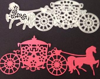 Brides horse and carriage die cut metal die cutter stencil scrap booking card making paper wedding