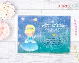 Glass Slipper Princess Birthday Invitation ( Digital )