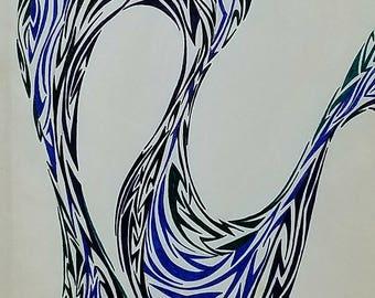 Original Abstract Art, Original Abstract Drawing, Modern Drawing, Modern Art
