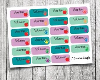 School Volunteer Stickers
