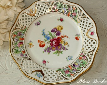 Schumann Bavaria, Dresden Line: Hand painted display plate