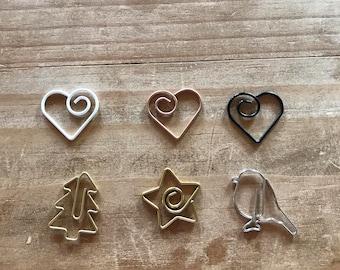 Heart metal clips / planner clips / planner supplies / planner accessories / planner / bookmark