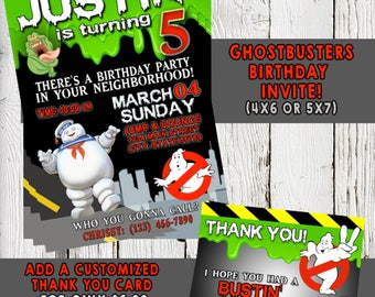 GHOSTBUSTERS INVITATION