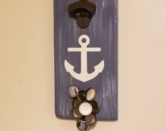 Anchor magnetic bottle opener/ customization available